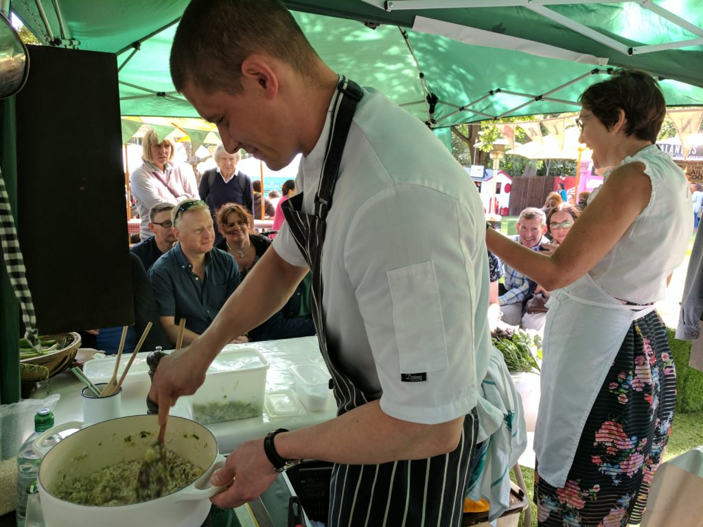 Marcin Medregal at the Edinburgh Food Festival